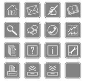 Web icons set no.2 - gray.2 Stock Images