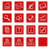 Web icons set no.2 - red.1 Stock Image