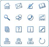 Web icons set no.3 - blue. Web icons set, shadow, blue vector illustration