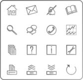 Web icons set no.3 - gray. Web icons set, shadow, gray royalty free illustration
