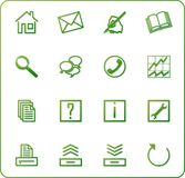 Web icons set no.3 - green Stock Photo