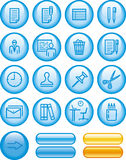 Web Icons Set – Office (Vector) Stock Images
