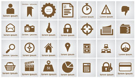Web Icons Set Royalty Free Stock Photo