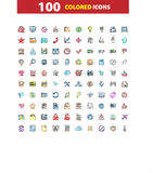 100 web icons set, signs,  illustration. 100 web  icons set, signs  illustration Royalty Free Stock Photography