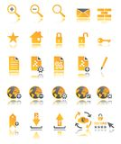 Web icons set in two colors. Coloured web icons for your web site Royalty Free Stock Photo
