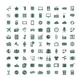 Web icons set. 90 universal Icons. Simplus series. Each icon is a single object Royalty Free Stock Photo