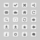 Web icons. Set of various web icons Stock Photo