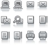 Web icons set (Vector) Royalty Free Stock Photos