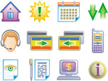 Web icons set (Vector) Stock Photography