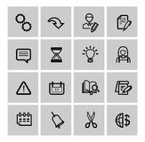 Web icons set. Vector black web icons set on gray Royalty Free Stock Photo