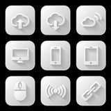 Web icons set. Vector illustration Stock Photography