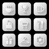 Web icons set. Vector illustration Stock Image