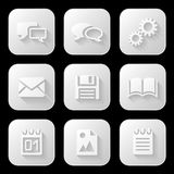 Web icons set. Vector illustration Stock Photos