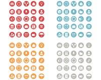 Web icons set. Vector illustration of a web icons set Royalty Free Stock Image