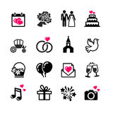 16 web icons set - Wedding. Marriage, bridal Royalty Free Stock Photography