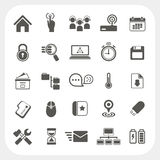 Web icons set. On white background, EPS10, Don't use transparency royalty free illustration