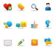 Web Icons - Social Network Stock Image