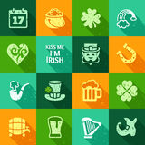 Web icons - St Patrick's Day set Royalty Free Stock Photography