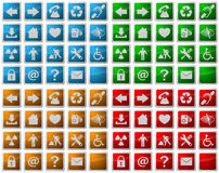 Web icons and symbol buttons Royalty Free Stock Photos