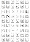 Web icons and symbols. For hotel and holiday Stock Images