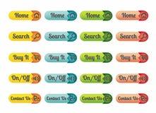 Web icons. Templates, webdesign elements illustration stock illustration