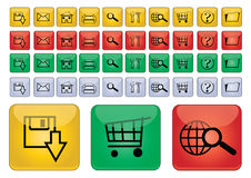 Web icons - vector Royalty Free Stock Images