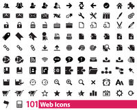 101 Web Icons Stock Photos