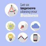 Web Icons for web design, seo, internet advertising, pay via internet Stock Photo