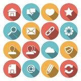 Web Icons White Stock Photos