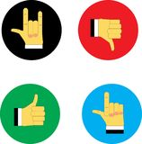 Web icons yes and no stock illustration