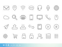 Web icons for your business. Set of web mail and networking icons on white background for your business vector illustration