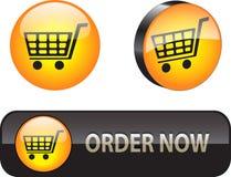 Web iconsbuttons voor elektronische handel Stock Foto