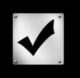 Web-Ikone, korrekt, zutreffend Lizenzfreie Stockfotos