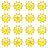 Web-Ikone stellte 1 ein (16 star butto Lizenzfreie Stockbilder