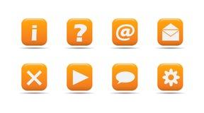 Web-Ikone stellte 3 ein  Aprikosenserie Lizenzfreies Stockfoto
