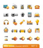 Web-Ikonen â Orangenserie. Set 3 Stockfotos