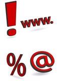 Web-Ikonen Stockfotografie