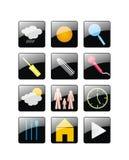 Web-Ikonen Lizenzfreie Stockbilder