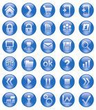 Web-Ikonen Lizenzfreies Stockbild