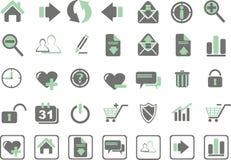 Web-Ikonen Lizenzfreies Stockfoto