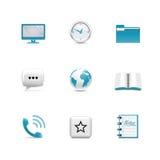 Web-Ikonen. Azzuro Serie lizenzfreie abbildung
