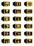 Web-Ikonen des Blockes 3D Lizenzfreie Stockfotografie