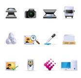 Web-Ikonen - Drucken u. grafische Auslegung Stockfotos