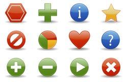 Web-Ikonen | Glattes Serienteil Lizenzfreies Stockbild
