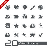Web-Ikonen-//-Grundlagen Lizenzfreie Stockbilder