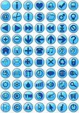 Web-Ikonen im Blau stock abbildung