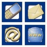 Web-Ikonen - Kontaktinfo Stockfoto