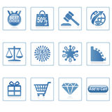 Web-Ikonen: Onlineeinkaufen 2 Stockbild