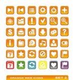 Web-Ikonen. orange. Set 2 Lizenzfreies Stockfoto