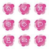 Web-Ikonen, rosafarbene Serie Lizenzfreie Stockbilder